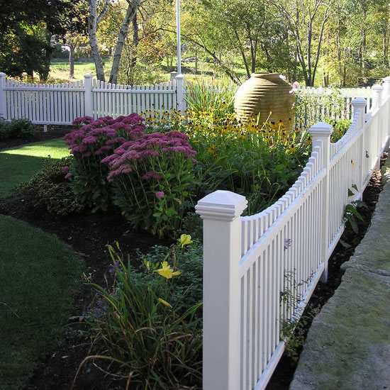Image of residential vinyl fence